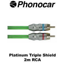 Phonocar 4/243 Platinum Triple Shield 2m RCA Cable High Quality Brand New
