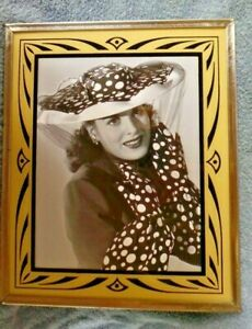 1930's Vintage 10x12 Art Deco Reverse Painted Glass Picture Frame O'Hara