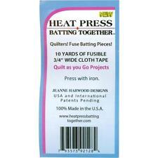 HEAT PRESS BATTING HTP6427  TOGETHER SEAM TAPE 75 X10YD BL