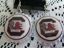 "1"" Bottle Cap Image Earrings ~ Handcrafted ~ **Gift Idea ~ Gamecocks"