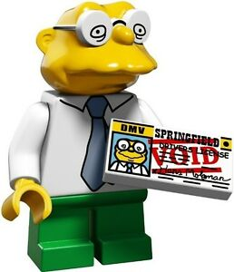 The Simpsons 2 Lego collectible minifig Hans Moleman + driver's licence