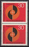 679 postfrisch Paar senkrecht BRD Bund Deutschland Briefmarke Jahrgang 1971