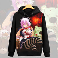 Anime Super Sonico Unisex Long Sleeve Hoodie Cosplay Coat Pullover#H-368