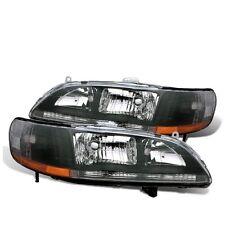 CG Honda Accord 98-02 Crystal Headlight Black Amber
