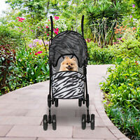 Pet Stroller Carrier Foldable Deluxe Jogger Walk Travel Dog Cat 4 Wheels