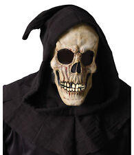 Shrouded Skull Grim Reaper Zombie Horror Hooded Mens Costume Mask