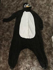 Penguin Adult XL Unisex Animal Pajamas Halloween Costume One-Piece Kigurumi