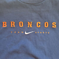Vintage 90s Nike Embroidered T Shirt Denver Broncos NFL Pro Line Mens XXL Navy