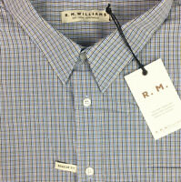 RM Williams Mens Collins Long Sleeve Button Up Shirt Check Size 4XB NEW