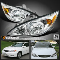 For 2002-2004 Toyota Camry Clear Diamond Headlights Head Lights Lamps Left+Right