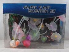 Aquatic Plant Aquarium Ornament Decoration Set - New