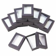 60PCS Cardboard Jewelry Display Boxes Black Gift Packages 9x6.5x2.8cm