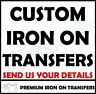 Custom Iron On T Shirt Transfer Berlin Sans Font Any Text Name Image Quality