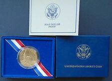 1986 Proof Liberty Half Dollar in mint box