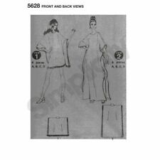 Uncut Simplicity 8060 size 16 women/'s dress kimono sleeves collared flared skirt 80s sewing pattern