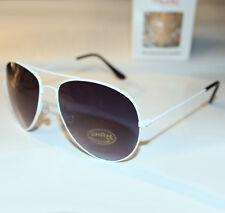 Sonnenbrille Pilotenbrille Fliegerbrille Brille Weiss Stylisch Cool