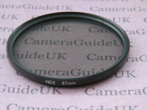 67mm ND2 Filter Neutral Density for Canon, Nikon, Sony, Pentax Camera Lens