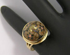 14kt Yellow Gold Cloisonne Ring
