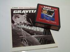 NTSC Gravitar with Manual Atari 2600 Video Game System