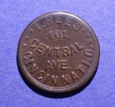 Cwt Storecard I. Rees Cincinnati Ohio Oh-165-Es-1a R-2 Bu