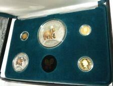 1996 5 Coin Gold & Silver National Park Foundation Wildlife Collection Case COA