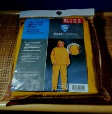 Westchester Protective Gear 3 Piece Yellow Poly Rain Suit Overalls Jacket XL