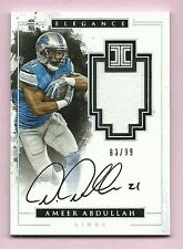Ameer Abdullah Lions 2016 Impeccable Football Elegance Veteran Patch Auto 83/99