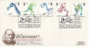 20 AUGUST 1991 DINOSAURS ROYAL MAIL FIRST DAY COVER NATIONAL HISTORY MUSEUM SHS