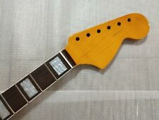 Vintage Guitar Neck Maple  21 Fret for ST style big headstock block inlays