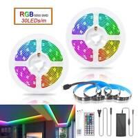 1m-30m Set 5050 RGB LED Strip Streifen Band Leiste 30LEDs/m Stripe Lichterkette
