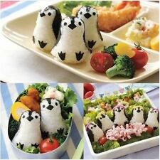 Penguin Shape Sushi Rice Ball Mold Onigiri Mould with Nori Punch DIY Lunch Bento