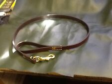 Leather bridle dog lead