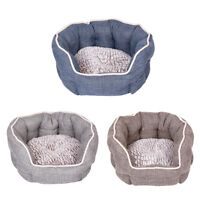 SMALL DOG BEDS DREAMPAWS SOFT PET BEDS DOG/PUPPY SMALL/MEDIUM/LARGE S/M