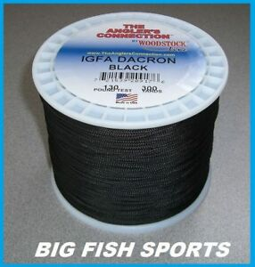 WOODSTOCK BRAIDED DACRON Fishing Line Black Color 130lb-300yd NEW! FREE USA SHIP