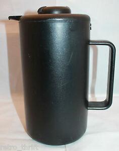 Bodum Denmark Bistro Vacuum Thermo Jug Carafe Hot Cold 1.0L Black Plastic AS-IS