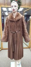 "CLEARANCE! Natural Letout Autumn Haze Mink Fur 46"" Coat - size 18-20"