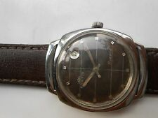 USED RARE VINTAGE SWISS MADE BROWN DIAL FORTIS TRUELINE MENS AUTOMATIC WATCH