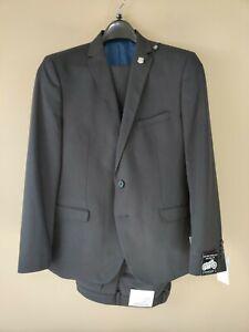 Nick Graham Mens Suit Beige Size 40 Notch-Collar New York Cut 2 Piece NWT