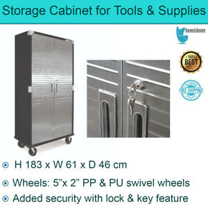 """Storage Cabinet for Tools & Supplies in Garage Seville Ultra HD 72"""" Load 272 kg"""