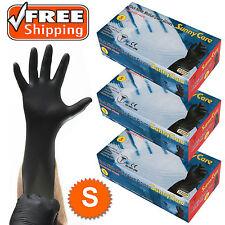 300pcs 5mil Black Nitrile Exam Gloves Powder-Free (Latex Vinyl Free) Size: Small