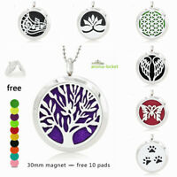316L Steel Essential Oil Fragrance Aromatherapy Diffuser Locket Pendant Necklace