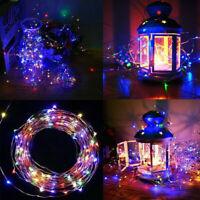 200LED 20m Solar LED Fairy Light String Ropes Garden Patio Home Wedding Decor US