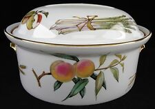 Royal Worcester Made In England Evesham Gold Deep Oval Covered Casserole