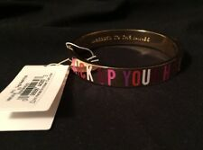 Kate Spade New York 'KICK UP YOUR HEELS' Hinged Idiom Bangle Bracelet *NEW*
