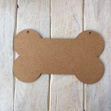 5 pack 3mm MDF Dog Bone Shape Plaque, Blank laser cut wooden shape