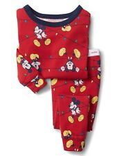 GAP Baby / Toddler Boys Size 4 Years / 4T Mickey Mouse Christmas Pajamas PJ Set