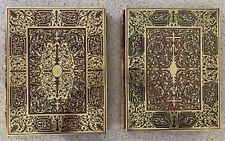 Near Pair Antique Boulle Blotters