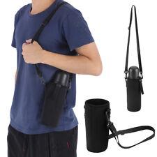 Outdoor Water Bottle Carrier Cover Holder Shoulder Strap Belt Travel Drink Bag Z