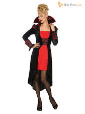 Ladies Gothic Vampire Costume Size 10 12 Halloween Fancy Dress Womens Outfit
