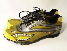 Brooks Running Spikes Mens Size 6 EUR 38.5 Track Field Yellow Fighter Jet Theme